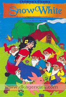 Children's classics snow white colouring book.