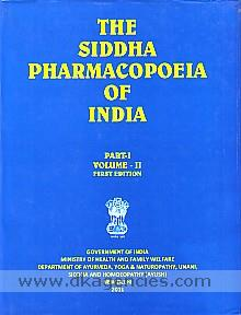 The siddha pharmacopoeia of India.