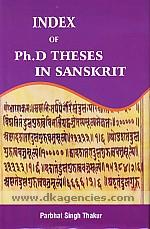 Index of Ph.D. theses in Sanskrit /