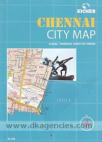 Eicher Chennai city map :  includes Tambaram, Ambattur, Ennore.