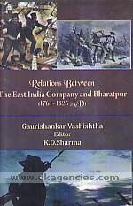 Relations between the East India Company and Bharatpur (1761-1825 A.D.) /