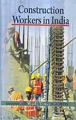 Construction workers in India /
